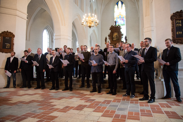Jubilæums-festgudstjeneste for tidligere og nuværende syngedrenge i Vor Frue Kirke